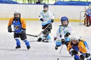 Wedstrijd IJshockeyschool Yeti's vs Turnhout Tigers
