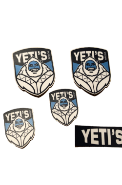 Yeti (helm) stickers