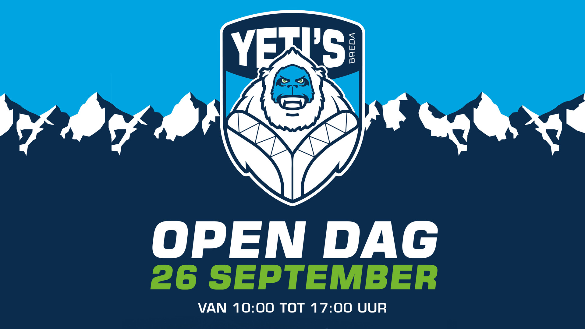 Save the date: Open dag Yeti's